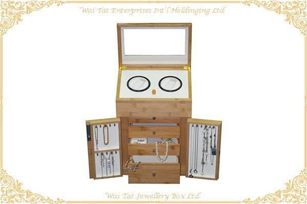 Bamboo Jewellery Box Watch Winder Box