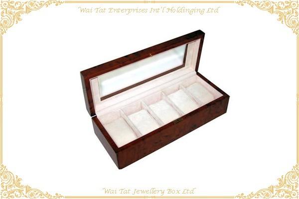 木紋高光噴油手錶木盒