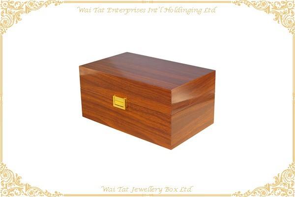 高光木紋噴油手錶木盒
