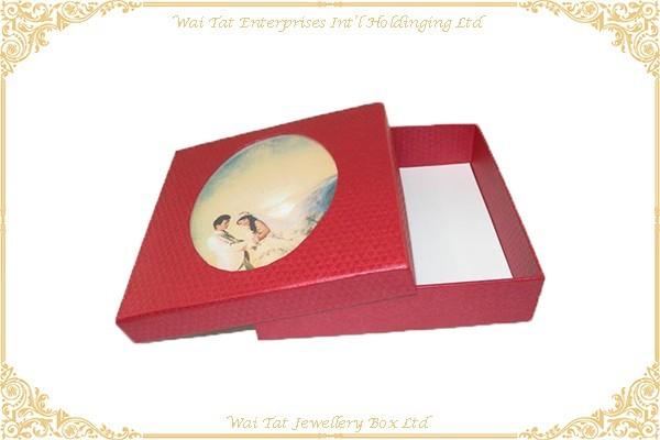充皮紙包咭紙结婚禮品盒