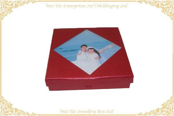 充皮紙包咭紙結婚禮品盒