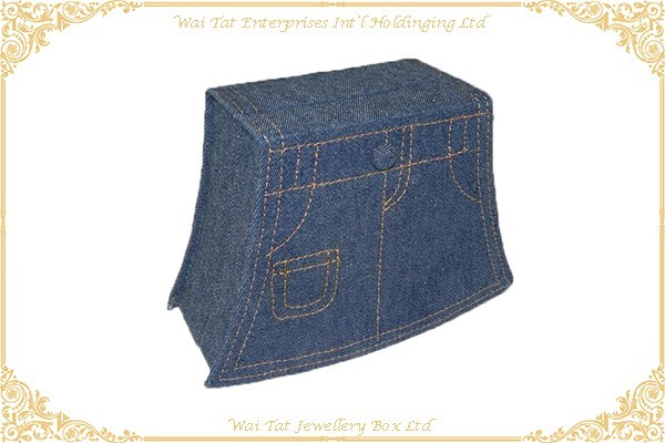 牛仔布包咭紙禮品盒