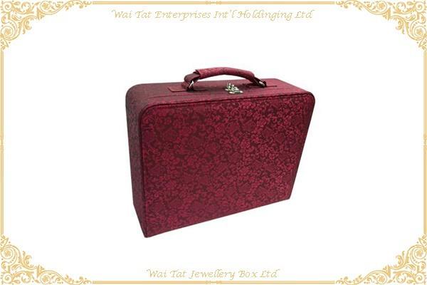 色丁布包木(MDF)禮品盒