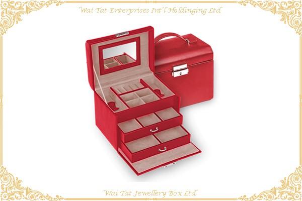 PU Wrapped Wood (MDF) Jewellery Box
