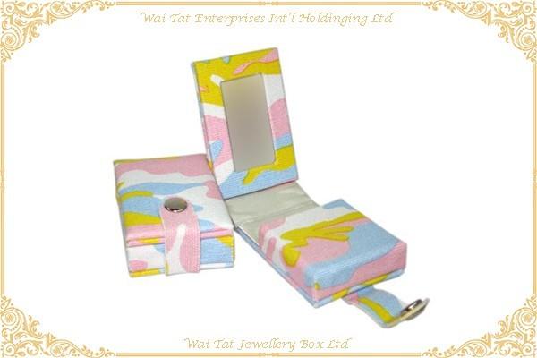 印花布包咭紙唇膏盒