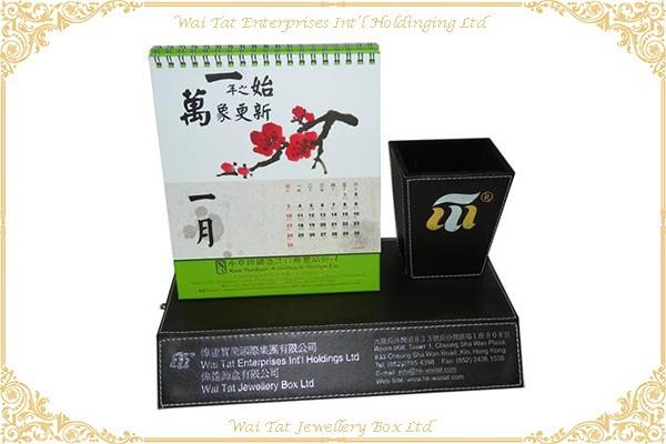 仿皮PU包(MDF)座台月曆