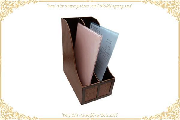 仿皮PU包咭纸文件架