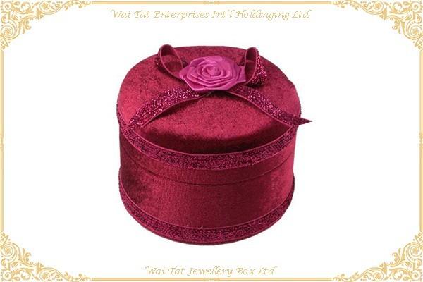 绒布包塑膠禮品盒