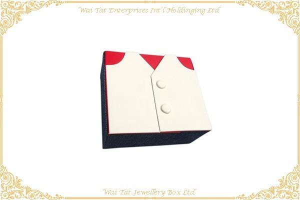 牛仔布 + 彷皮PU包咭紙袖囗鈕盒