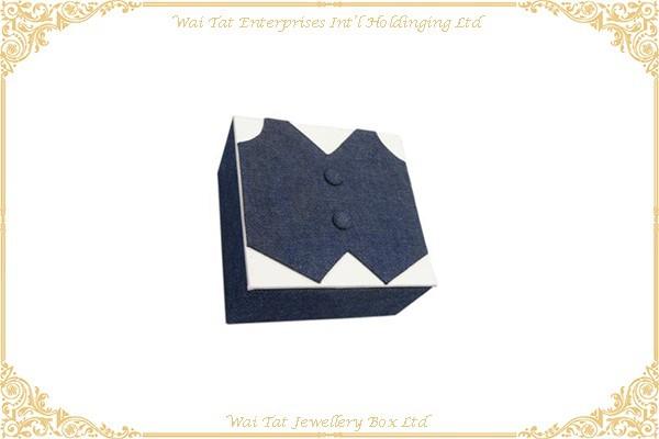 牛仔布包咭紙袖囗鈕盒