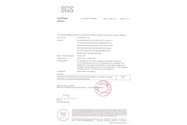 Products Pass with SGS