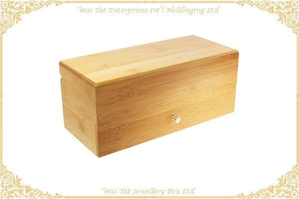10 Slots Bamboo Watch Box With Hard Pillow