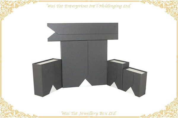 Vinyl Paper Wrapped Cardboard Gift Box Set