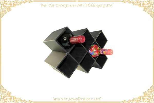 PU Wrapped Wood (MDF) Wine Display Rack