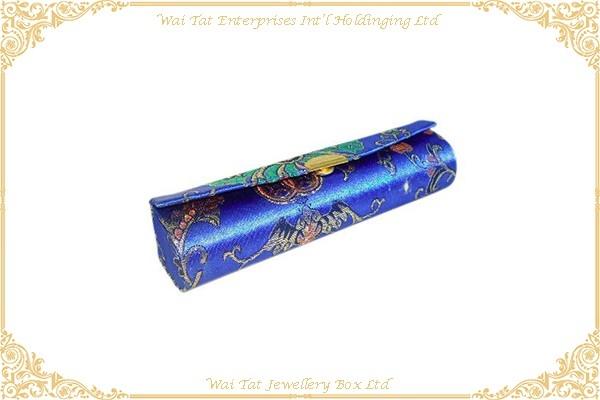 Satin Fabric Wrapped Plastic Lip Stick Box