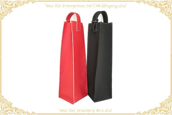 PVC + Velvet Wine Shopping Bag