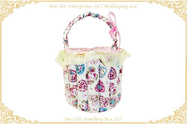 Printed Fabric Basket Decorative Bag