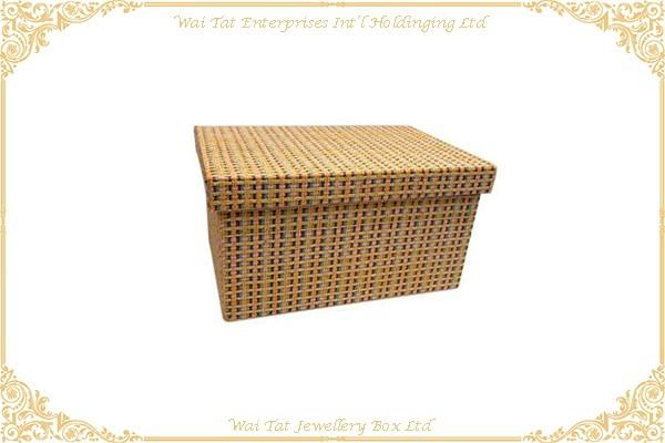 Fabric Wrapped Cardboard Storage Box