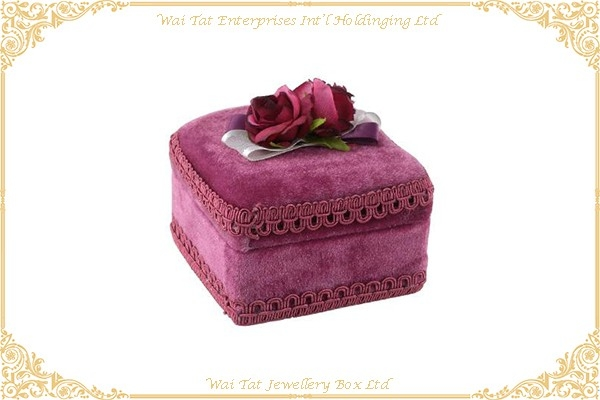 Velvet Wrapped Plastic Gift Box