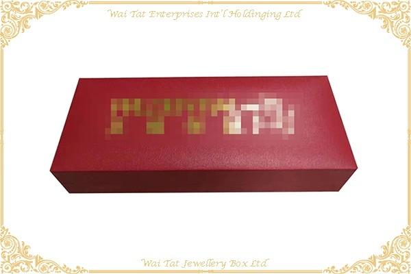 Vinyl Paper Wrapped Plastic Pen Box
